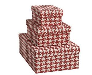 Tassotti - pied de poule rosso - Storage Box