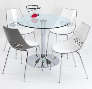 Calligaris - table repas ronde planet de calligaris 90x90 en ve - Round Diner Table