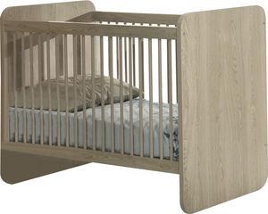 COMFORIUM - lit bébé évolutif coloris chêne d?hiver design - Baby Bed