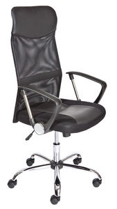 WHITE LABEL - chaise de bureau moderne coloris noir - Office Chair