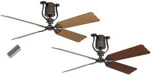 Casafan - ventilateur de plafond vintage moteur étain pales  - Ceiling Fan