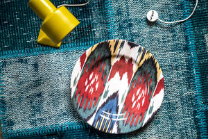 LES-OTTOMANS - ikat plate - Plate Mat
