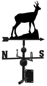 Aubry-Gaspard - girouette chamois en fer forgé 106x47x47cm - Weather Vane