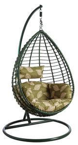 Aubry-Gaspard - balancelle sur pied en polyrésine verte - Swinging Chair