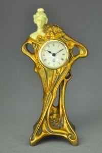 Demeure et Jardin - pendule art nouveau - Figurine