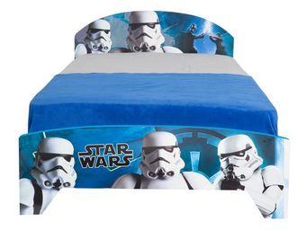 WHITE LABEL - lit + matelas morpho 190*90 cm - guerre des etoile - Children's Bed