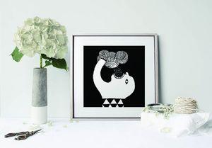 la Magie dans l'Image - print art pluie noir et blanc - Poster