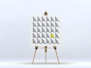 la Magie dans l'Image - toile chats groupés - Digital Wall Coverings