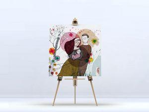 la Magie dans l'Image - toile famille - Digital Wall Coverings