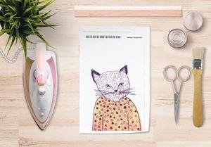 la Magie dans l'Image - papier transfert mon petit chat - Transfer