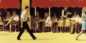 Nouvelles Images - affiche terrasse café bar - Poster