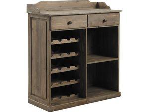 Aubry-Gaspard - commode comptoir en bois vieilli - Bar Counter