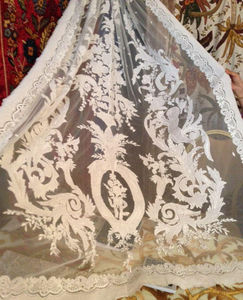 PASSION HOMES BY SARLA ANTIQUES - french white on white - Net Curtain