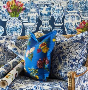NICOLETTE MAYER COLLECTION -  royal delft - Furniture Fabric
