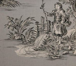 ALESSANDRO BINI - country & love  - Toile De Jouy Print Material
