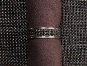 CHILEWICH - mini bw-- - Napkin Ring