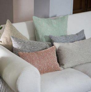 Ybarra & Serret - temps anthracite - Rectangular Cushion