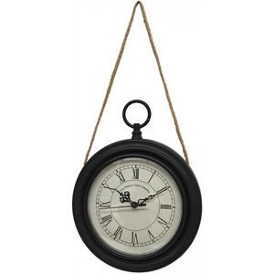 CHEMIN DE CAMPAGNE - style ancienne horloge murale en métal fer rond oi - Wall Clock