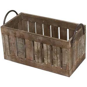 CHEMIN DE CAMPAGNE - casier panier caisse en bois52x25x32cm - Storage Locker