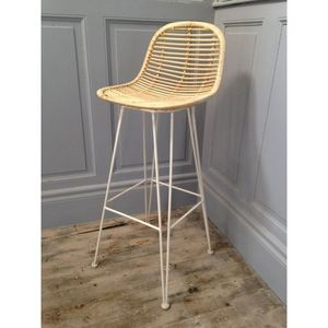 Mathi Design - tabouret design grafik blanc - Bar Chair