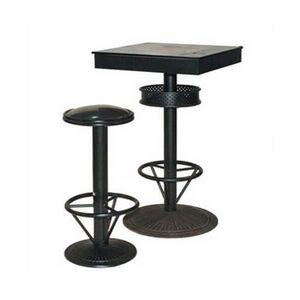 Mathi Design - mange-debout carre style industriel - Bar Table