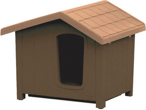 jardindeco - niche pour chien en résine clara taille 4 - Kennel