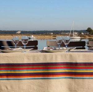 Artiga - lin mauleon cassis - Rectangular Tablecloth