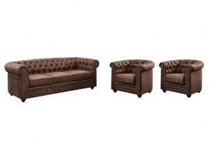 WHITE LABEL - canapé chesterfield - Living Room