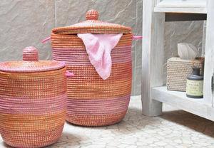 ROTIN ET OSIER - petit modèle fuchsia - Laundry Hamper