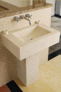 B & V Masonry - the brescia - Pedestal Washbasin