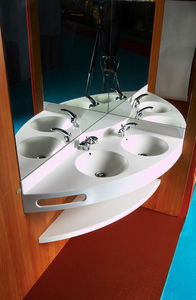 Image - lavabo double en corian - Wash Hand Basin
