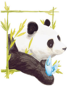 DECOLOOPIO - tableau panda - Children's Decorative Sticker