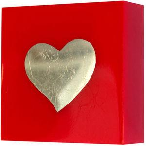 L'AGAPE - bouton de tiroir resine coeur alu - Children's Furniture Knob