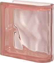 Seves Glassblock - pegasus rosa ter lineare o - Curved End Glass Block