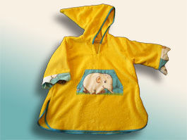 CréaFlo - poncho peignoir 2/5ans jungle jaune - Children's Dressing Gown