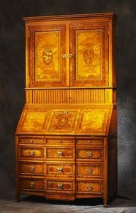 Bertrand Klein - scriban marqueté louis xvi - Writing Cabinet