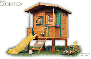 CABANES GREEN HOUSE - robinson - Children's Garden Play House