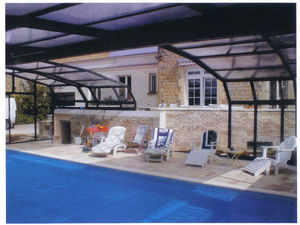 Telescopic Pool Enclosures - titan - High Telescopic Pool Cover