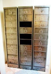 L'atelier tout metal - meuble administratif - Drop Door Storage Cabinet