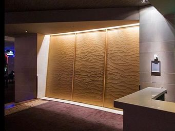 SDECO INTERIORS - big brown acrylic panel - Water Wall