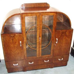 ANTICUARIUM - cherry display cabinet sideboard - Central Display Cabinet