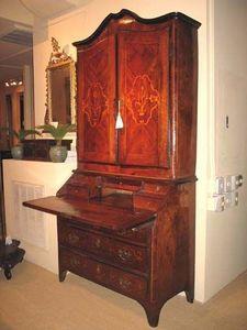 FOSTER-GWIN - inlaid walnut secretary - Secretary Desk