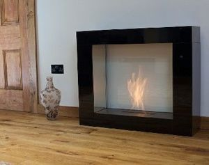 Direct Designs - urban flame o50 - black - Flueless Burner Fireplace