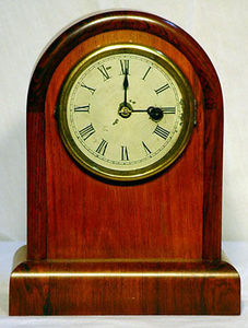 KIRTLAND H. CRUMP - round top cottage clock with rosewood case - Desk Clock