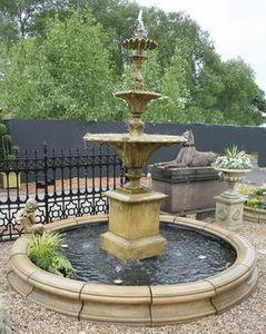 Triton - tier fountain with 320cm circular surround - Outdoor Fountain