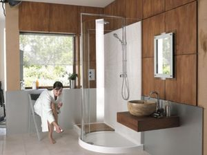 Swadling Brassware - original 1700 walk-in curved corner - Bathroom