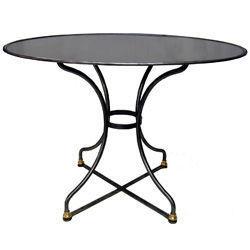 Jardinieres & Interieurs - gueridon oval poli - Round Diner Table