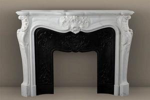 MAISON & MAISON - comtesse de mailly, cheminée sur mesure en marbre - Fireplace Mantel