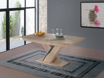 Ateliers De Langres - ceram - table plateau bois - Rectangular Dining Table
