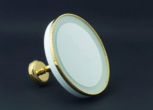 Cristal Et Bronze -  - Lighted Tabletop Mirror